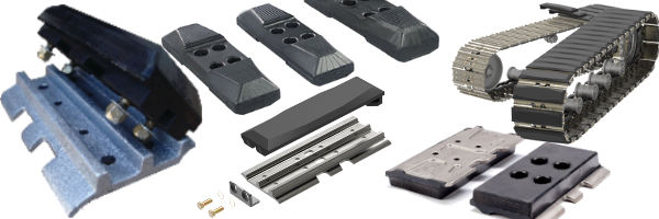 Bolt-On, Clip-On, and Road-liner Rubber Pads for steel tracked excavators and dozers